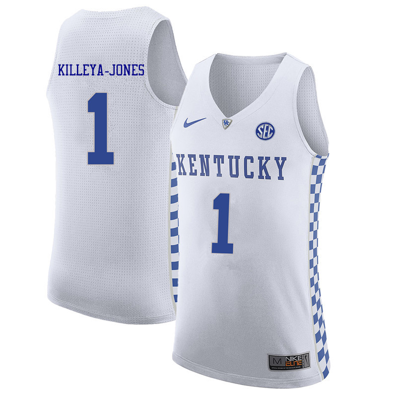 Men Kentucky Wildcats #1 Sacha Killeya-Jones College Basketball Jerseys Sale-White